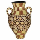 World Menagerie Hemel Wood Encrusted Floor VaseCeramic in Brown, Size 18.0 H x 12.0 W x 12.0 D in   Wayfair 84CB34D239644626B710280F102DB2B3