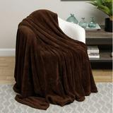 Winston Porter Poirier Simply Lush Solid Blanket Polyester in Brown, Size 86.0 H x 66.0 W in   Wayfair CE3C949AB40C4FE7B922F619FF399802