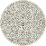 Astoria Grand Attell Oriental Grey Area Rug Polypropylene in Brown/Gray, Size 63.0 H x 63.0 W x 0.43 D in   Wayfair