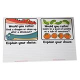 'Would You Rather' Writing Prompts Dry Erase Practice Pages - Language Arts Teacher Supply Centers
