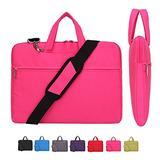 Laptop Case, Laptop Shoulder Bag, CROMI Simplicity Slim Lightweight Briefcase Commuter Bag Business Sleeve Carry Hand Bag Nylon Waterproof Notebook Shoulder Messenger Bag (Rose, 15.6 inch)