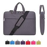 Laptop Case, Laptop Shoulder Bag, CROMI Simplicity Slim Lightweight Briefcase Commuter Bag Business Sleeve Carry Hand Bag Nylon Waterproof Notebook Shoulder Messenger Bag (Grey, 13.3 inch)