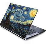 Skinit Decal Laptop Skin Compatible with Generic 17in Laptop (15.2in X 9.9in) - Originally Designed Van Gogh - The Starry Night Design