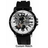 Vintage Disney Mickey Mouse Custom Watch Rubber Band Wrist Watch