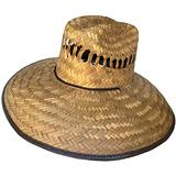 Headchange Wide Brim Lifeguard Hat Mexican Straw (Brown, Large)