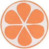 NOVOGRATZ BY MOMENI Cucina Kitchen Mat, Area Rug, 3' X 3' Round, Orange