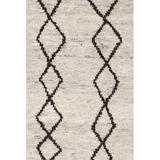 Dash and Albert Rugs Hand-Knotted Beige Area Rug Wool in White, Size 120.0 H x 96.0 W x 0.5 D in | Wayfair RDA402-810