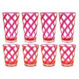 Latitude Run® Glenorie 8 Piece Acrylic Assorted Glassware Set Plastic in Pink | Wayfair 24940EB924E542838FCF7F599FBE7640