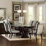 Furniture - Canora Grey Baypoint 7 Piece Extendable Dining Set, Wood/Upholstered Chairs in Beige
