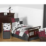 Sweet Jojo Designs Rustic Patch 5 Piece Toddler Bedding Set Polyester in Black/Gray/Red | Wayfair RusticPatch-Tod