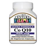 """Co-Q10 400 mg 30 Vegetarian Capsules, 21st Century Health Care"""