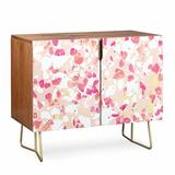 East Urban Home Elisabeth Fredriksson Terrazzo Delight Credenza Wood in Brown/Yellow, Size 31.0 H x 38.0 W x 20.0 D in | Wayfair