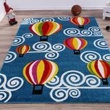 Zoomie Kids Kindig Area Rug Polypropylene in Blue/Red/Yellow, Size 88.0 H x 63.0 W x 0.42 D in | Wayfair 9BDE7D2B3DF14757914D035D7931EA6F
