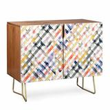 East Urban Home Ninola Summer Credenza Wood in Brown/Yellow, Size 31.0 H x 38.0 W x 20.0 D in | Wayfair D33BCF5F06A147E1AB166D5951063455