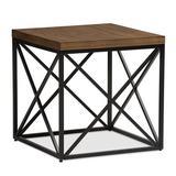 Union Rustic Darian End Table Wood/Metal in Brown, Size 24.0 H x 24.0 W x 24.0 D in | Wayfair F1CA0FF31F4E4DA581F9D941F6ACA59A
