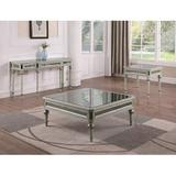 Rosdorf Park Mahlum 3 Piece Coffee Table Set Wood/Mirrored in Brown/Gray, Size 18.5 H x 48.0 W x 48.0 D in   Wayfair