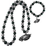 NFL Siskiyou Sports Womens Philadelphia Eagles Fan Bead Necklace and Bracelet Set One Size Team Color