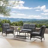 Kelly Clarkson Home Emmalyn 4 Piece Rattan Sofa Seating Group w/ Cushions Wicker/Rattan in Gray | Wayfair 66967BD44D7344259DDBD1E01F4BE167