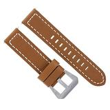 24mm Buffalo Leather Watch Band Strap Compatible with Breitling Navitimer Bentley L/Brown Ws