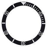 Bezel Insert Ceramic Compatible with Invicta Diver 9937Ob 8926Ob 8926 Engraved Numbers Black