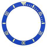 Bezel Insert Compatible with Invicta Diver 8926Ob 8928 9937 8928Ob Pro Diver Blue Gold Font