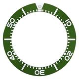 Bezel Insert Compatible with Seiko Diver Sbcz011 Kinetic Watch Seiko 5 Sea Urchin Green