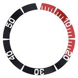 Bezel Insert Compatible with Seiko 5 Sea Urchin Snz15K1, Snzf17 Watch Auto Diver Black/Red