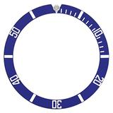 Bezel Insert Compatible with Invicta 8926C Pro Diver Automatic Watch Blue Silver Fonts