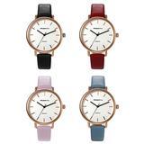 Unisex Fashion Bracelet Watch Slim Leather Strap Simple Japan Quartz Dress Wristwatch for Men and Women (4PCS)