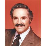 Hal Linden wearing Formal Outfit with Necktie in Red Background Photo Print (24 x 30)