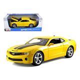 Chevy Camaro SS RS, Yellow w/ Black Stripes - Maisto 31173 - 1/18 Scale Diecast Model Toy Car