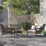 Kelly Clarkson Home Emmalyn 4 Piece Rattan Sofa Seating Group w/ Cushions Wicker/Rattan in Brown | Wayfair 8AF52D8F30494EB689D51970A8FFEDC7