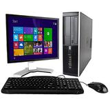 """HP Elite Desktop Computer Tower PC, Intel Core i5, 4 GB Ram, 500 GB HDD (Upgrades Available) WiFi, DVD-RW, Complete PC with 17"""" Monitor, K.B & Mouse, Windows 10 (Renewed)"""