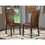 East West Furniture Ipswich dining room chair - Wooden Seat and Mahogany Hardwood Structure dining chair set of 2