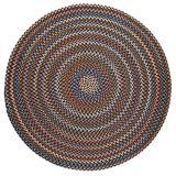 Rhody Rug Augusta Space-Dye Wool Braided Rug Walnut 8' Round Wool 8' Square Indoor Natural Round