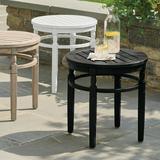 Nantucket Outdoor Side Table - Solid Neptune - Grandin Road