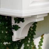 Nantucket Easy-Care Window Box Planter Pots Corbels, Set Of Two - Espresso - Grandin Road