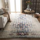 Bungalow Rose Hackman Ivory/Blue Rug Polypropylene in Blue/Brown, Size 67.0 H x 0.45 D in | Wayfair 41B6A7B11C5E4E0EBAE9BB845D33FDED