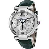 Chopard Imperiale Womens Automatic Chronograph Watch - 40mm Analog Mother of Pearl Face with Date Stainless Steel Ladies Watch - Swiss Made Green Leather Band Automatic Watch for Women 388549-3001
