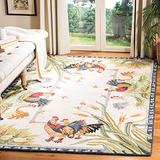 """Safavieh Chelsea Collection HK56A Hand-Hooked French Country Wool Accent Rug, 2'9"""" x 4'9"""", Ivory"""