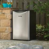 Danby Classic 4.4 cu. ft. Freestanding Outdoor Rated Mini Fridge Stainless Steel in Gray, Size 33.06 H x 20.75 W x 21.3 D in | Wayfair