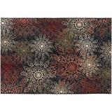 Couristan Dolce Amalfi Floral Indoor Outdoor Rug, Multicolor, 2X4 Ft