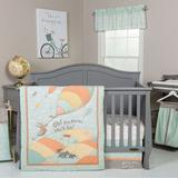 """""""Dr. Seuss """"""""Oh, the Places You'll Go!"""""""" Mint 5-pc. Crib Bedding Set by Trend Lab, Orange"""""""