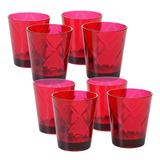 Certified International 8 pc. Double Old-Fashioned Glass Set, Red