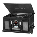 Victrola Navigator 8-in-1 Classic Bluetooth Record Player with USB Encoding & 3-speed Turntable, Black