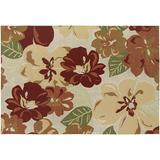 Couristan Dolce Novella Floral Indoor Outdoor Rug, Red, 2X4 Ft