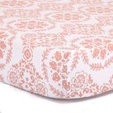 The Peanut Shell Medallion Fitted Crib Sheet, Red