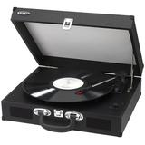 Jensen Portable 3-Speed Stereo Turntable with Built-In Speakers, Black
