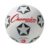 Youth Champion Sports Star Rubber Cover Size 3 Soccer Ball, Multicolor
