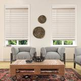 """Custom Cut To Order Cordless 48-in. Faux Wood Blinds, White, 22.5"""" Wide"""